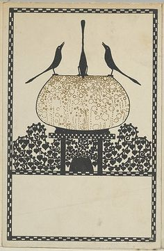 'Heart Leaves and Birds' (1908). Attributed to Wenzel Oswald (1883–after 1934). Published by Wiener Werkstätte.Image and text courtesy The Metropolitan Museum of Art.