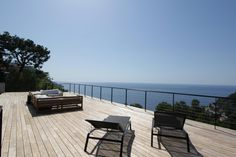 This views says more than 1000 words! - http://www.aiximmo.ch/property/this-views-says-more-than-1000-words/- Eze bord de mer, in a quiet and residential area. Superb contemporary villa of approx. 300 sqm, fully renovated with an magnificent sea view, terraces, heated swimming pool, hammam, gym and parking space for 3 cars. • Garden level cellar, gym, main room • Upper level open kitchen, living room, Guest toilet, laundry room • Lower