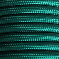 Dark Green Round Fabric Flex - 3 Core Braided Cloth Cable Lighting Wire