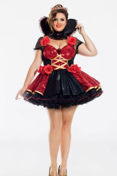 251eccc5149 Plus Size Heartthrob Queen Of Hearts Halloween Costume