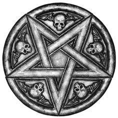 Pentagramm von auf DeviantArt - New Ideas Skull Tattoos, Body Art Tattoos, Tattoo Drawings, Sleeve Tattoos, Satanic Tattoos, Satanic Art, Evil Art, Occult Art, Arte Horror