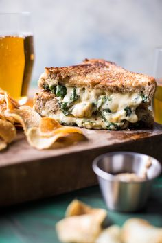 Irish Pub Spinach and Artichoke Melt - gooey
