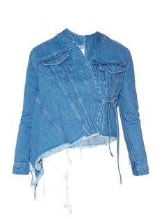 Asymmetric wrap-front denim jacket  | Marques'Almeida | MATCHESFASHION.COM