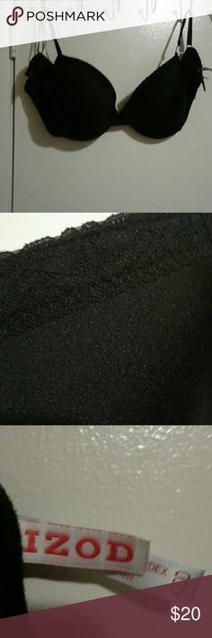 IZOD 42DD BRA BLACK WITH LACE TRIM Pretty NWOT Izod 42DD bra Izod Intimates & Sleepwear Bras