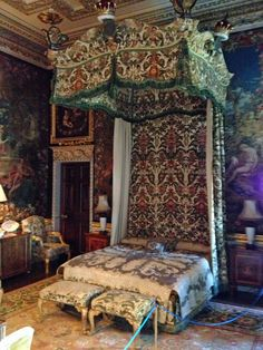 British Estate - Holkham Hall, Green State Bedroom, which was designed by William Kent