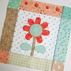 Block 47 - Bloom Block Six. Sewing along with the Calico Days/Bloom quilt-along hosted by Riley Blake and Lori Holt.