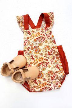 Handmade Vintage Style Baby Romper | OakandtheLittleFolk on Etsy