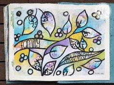 Nat's art journal tutorial 20th Descember 2015 - YouTube