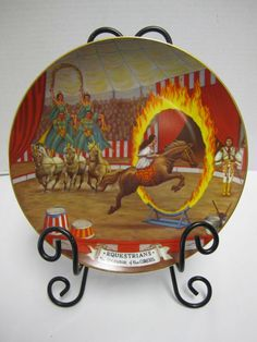 The Equestrians Horse Plate Barnum & Bailey Splendor of the Circus Franklin Mint