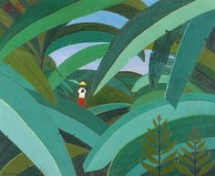Tropical Landscape(1971) - Oil on Canvas - Djanira da Motta.