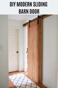 Custom Built: Sliding Barn Door, Hinge, Pocket Door, X design Diy Sliding Door, Sliding Door Design, Modern Sliding Doors, Diy Barn Door, Diy Door, Modern Barn Doors, Barn Style Sliding Doors, Wood Barn Door, Style At Home