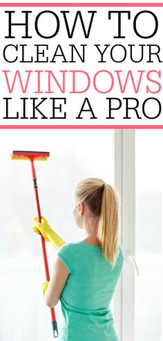Tired of dirty, grimy windows? Check out how to clean windows like a pro. You can easily clean your outside windows without the expensive service.