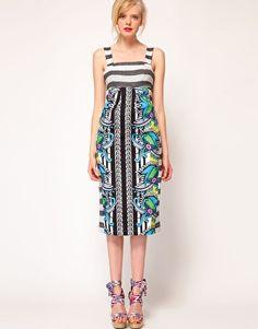 ASOS AFRICA tropical kanga print midi dress $66.28#Repin By:Pinterest++ for iPad#