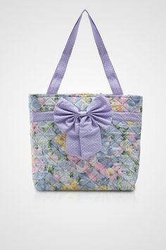 RIBBON TOTE FLOWER  MATERIAL : JAPANESE COTTON SIZE : 40 x 30 x 12cm
