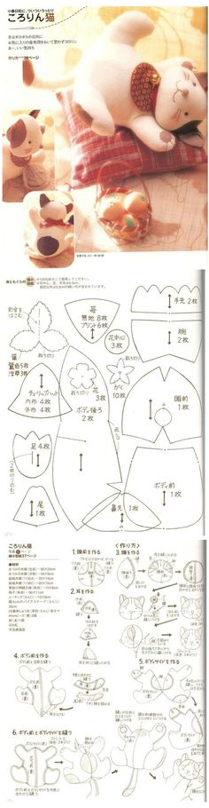 Wish I could make this kitty cat and other cute stuffies at this site, but it looks complicated without more directions.