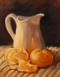 Orange Study - original pastel painting by Trish Acres available on Etsy