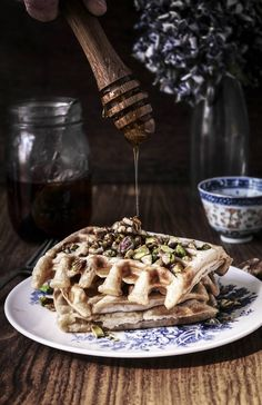 vegan baklava waffles