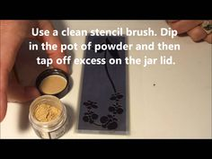 How to Use Mica Powders on Glossy Black Embossing Paste with Brass Stencils