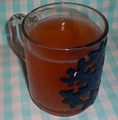 The German Holiday Kinder punch is for the kids when the adult drink Gluehwein (mulled hot red wine). Easy to make and children will love it.