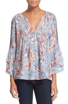 Joie 'Clausen' Floral Print Silk Top