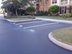 Recent Line Striping Job by the ABC Paving & Sealcoating! #LineStriping #ABCPavingandSealcoating