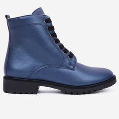 Ghete albastre din piele naturala Grimes Dr. Martens, Combat Boots, Shoes, Fashion, Moda, Zapatos, Shoes Outlet, Fashion Styles, Shoe