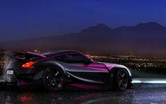 #Racing #Sport #Car - #Black #Purple #Nissan370Z