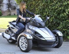 Can-Am Spyder motorcycle - Stacy Keibler