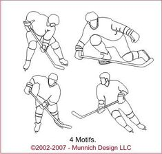 Munnich Design - Quilt Recipes: Digital Quilting Pattern - Browse All Patterns Applique Patterns, Applique Quilts, Quilt Patterns, Long Arm Quilting Machine, Machine Quilting Designs, Hockey Drawing, Hockey Crafts, Kids Graphics, Quilt Stitching