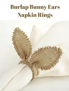 burlap bunny ears napkin rings perfect for a family dinner Easter Traditions, Easter Party, Egg Hunt, Birthday Party Themes, Napkin Rings, Easter Eggs, Ears, Burlap, Balloons