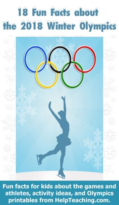 18 Fun Facts about the 2018 Winter Olympics for Kids - Looking for Olympics teaching ideas and ways to embrace the excitement of the games in your classroom? Here are 18 fun facts about the to share with your students. Happy Shared by Career Path Design. 2018 Winter Olympics, Winter Olympic Games, Winter Games, Winter Activities, Kids Olympics, Olympic Idea, Yoga Fitness, Olympic Crafts, Fun Facts For Kids