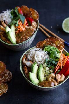 Vietnamese Chicken Avocado Lemongrass Salad.