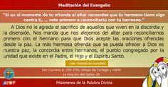 """MISIONEROS DE LA PALABRA DIVINA: MEDITACIÓN DEL EVANGELIO - """"Si en el momento de tu..."""