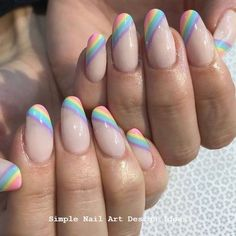 False nails have the advantage of offering a manicure worthy of the most advanced backstage and to hold longer than a simple nail polish. The problem is how to remove them without damaging your nails. Marriage is one of the… Continue Reading → Cute Acrylic Nails, Cute Nails, Pretty Nails, Pastel Nail Art, Pink Nail, Rainbow Nails, Rainbow Pastel, Nagel Gel, Simple Nails