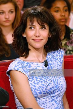 Actress of the movie 'Une Rencontre' Sophie Marceau attends the 'Vivement Dimanche' French TV Show at Pavillon Gabriel on April 9, 2014 in Paris, France.