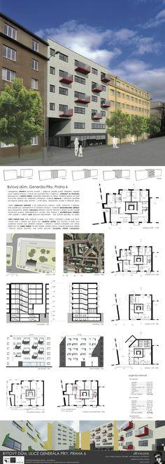 Studentský projekt. LS 2013/2014. FSv ČVUT v Praze. Ideas Para, Floor Plans, Diagram, How To Plan, Presentation Board Design, Buildings