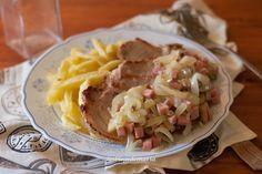 Lomo con patatas y castellana, plato combinado   Comer con poco