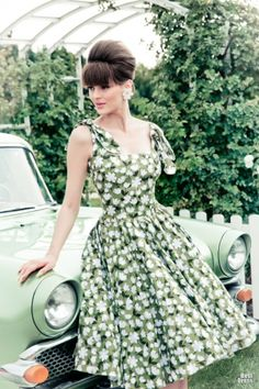 A Country Picnic -- retro style dresses by Lena Hoschek - 2014  All the photos on this page are gorgeous!