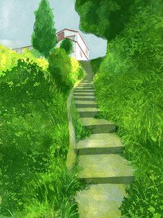 擁壁・三浦半島の風景 鴨居の階段