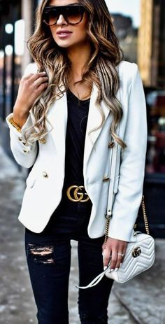 These fall and winter gucci belt outfits are so cute!