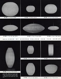 The Bubble Collection - page 2, catalog. George Nelson, designer; Howard Miller, manufacturer