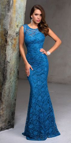Lace Formal Dress Nina Canacci 7237. Colors: Teal, Navy, Nude, Coral. Size: 0-14
