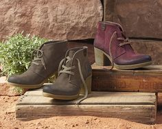 Zalia Shoes - Oiled and burnished nubuck pairs with gum rubber soles for unbeatable comfort in a classic silhouette.