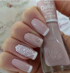 27 best ideas for nails art french manicure ongles Love Nails, Pretty Nails, Ongles Beiges, Nail Deco, Wedding Nails Design, French Nails, Manicure And Pedicure, Natural Nails, Diy Nails