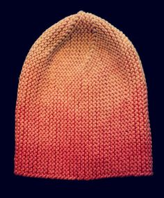 Prompt 23.this ombre 'sideways knit' hat that was custom dyed.fun to make, and plan to do more...