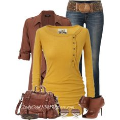 I really like this: Golden, created by cindycook10 on Polyvore