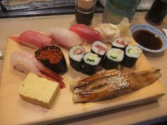 Sushi from the famous Tsukiji fish market in Japan