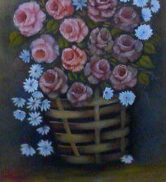 rosas e margaridas em cesto - ost