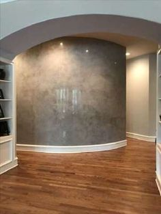 Inspiration of Polished Plaster Walls Faux Walls, Curved Walls, Textured Walls, Faux Painting, House Painting, Venetian Plaster Walls, Polished Plaster, Loft Studio, Wall Finishes