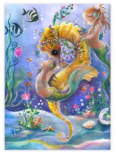 Mystical creatures We've yet to discover ! Fantasy Mermaids, Unicorns And Mermaids, Real Mermaids, Mermaids And Mermen, Mermaid Cove, Mermaid Melody, Mermaid Fairy, Fantasy Creatures, Sea Creatures